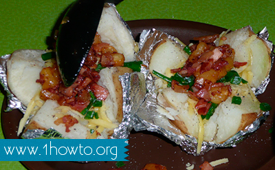 Baking Potatoes in Aluminum Foil