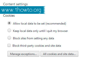 Enable Cookies in Google Chrome