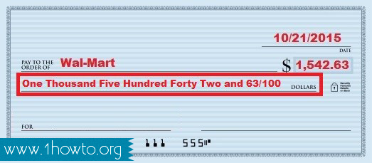 How to write amount in words in cheque emploi